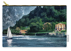 Carry-all Pouch featuring the photograph Bellagio Villa by Jim Hill
