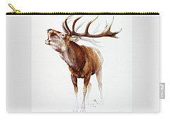 Belling Stag Watercolor Carry-all Pouch