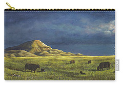 Carry-all Pouch featuring the painting Belt Butte Spring by Kim Lockman