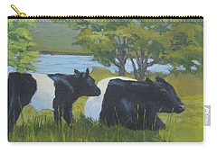 Belted Galloway And Calf Carry-all Pouch