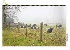 Belted Galloway Cows Farm Rockport Maine Photograph Carry-all Pouch by Keith Webber Jr