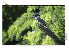 Carry-all Pouch featuring the photograph Belted Kingfisher by Gary Hall