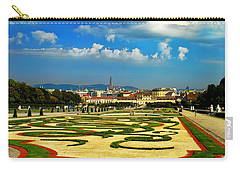 Carry-all Pouch featuring the photograph Belvedere Palace Gardens by Mariola Bitner