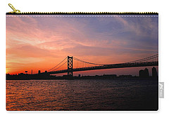 Ben Franklin Bridge Sunset Carry-all Pouch