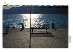 Bench And Street Lamp Carry-all Pouch