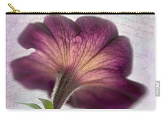 Carry-all Pouch featuring the photograph Beneath A Dreamy Petunia by David and Carol Kelly