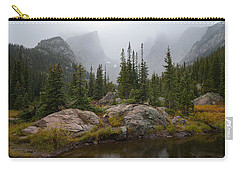 Carry-all Pouch featuring the photograph Beneath Hallett Peak by Dustin LeFevre