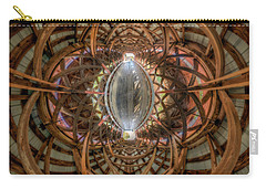 Carry-all Pouch featuring the photograph Beneath The Arches Of Pont Bordeleau Bridge by Chris Bordeleau