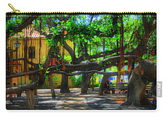 Beneath The Banyan Tree Carry-all Pouch by DJ Florek