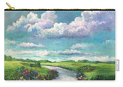 Beneath The Clouds Of Paradise Carry-all Pouch by Randy Burns