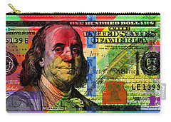 Benjamin Franklin $100 Bill - Full Size Carry-all Pouch