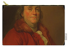 Carry-all Pouch featuring the painting Benjamin Franklin by Workshop Of Joseph Duplessis