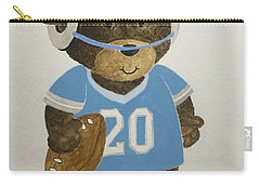 Carry-all Pouch featuring the painting Benny Bear Football by Tamir Barkan