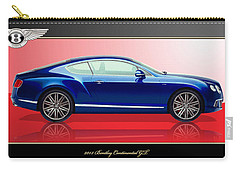 Bentley Continental Gt With 3d Badge Carry-all Pouch