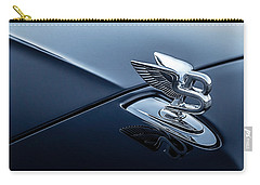 Carry-all Pouch featuring the digital art Bentley Flying B by Douglas Pittman