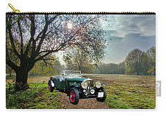 Carry-all Pouch featuring the photograph Bentley On A Country Road by Ericamaxine Price