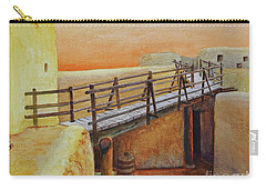 Carry-all Pouch featuring the painting Bent's Old Fort by Karen Fleschler