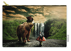 Carry-all Pouch featuring the digital art Berlin Bear by Nathan Wright