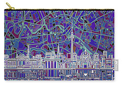 Berlin City Skyline Abstract 3 Carry-all Pouch by Bekim Art