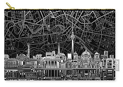 Berlin City Skyline Abstract 4 Carry-all Pouch by Bekim Art