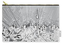 Berlin City Skyline Map 2 Carry-all Pouch by Bekim Art