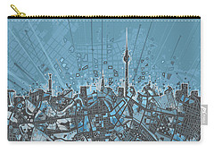 Berlin City Skyline Map 3 Carry-all Pouch by Bekim Art