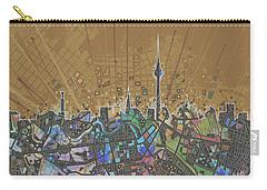 Berlin City Skyline Map 4 Carry-all Pouch by Bekim Art