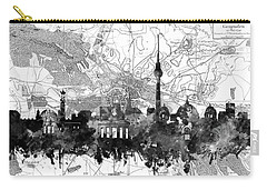 Berlin City Skyline Vintage 2 Carry-all Pouch by Bekim Art