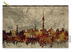 Berlin City Skyline Vintage Carry-all Pouch by Bekim Art