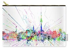 Berlin City Skyline Watercolor 2 Carry-all Pouch by Bekim Art