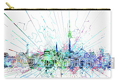Berlin City Skyline Watercolor 3 Carry-all Pouch by Bekim Art