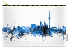 Berlin Germany Skyline Blue Signed Carry-all Pouch