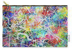 Berlin Map Watercolor Carry-all Pouch by Bekim Art