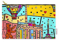 Carry-all Pouch featuring the digital art Berlin Popart By Nico Bielow by Nico Bielow