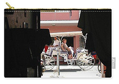 Carry-all Pouch featuring the photograph Bermuda Carriage by Ian  MacDonald