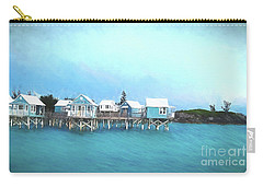 Bermuda Coastal Cabins Carry-all Pouch by Luther Fine Art