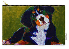 Bernese Mtn Dog Puppy Carry-all Pouch