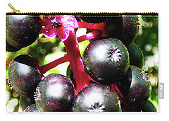 Wild Purple Pokeweed Berries  Carry-all Pouch