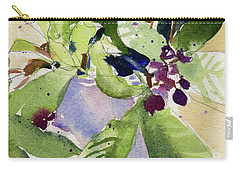 Carry-all Pouch featuring the painting Berry Bouquet by Kris Parins