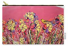 Berry Pink Flower Garden Carry-all Pouch