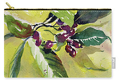 Carry-all Pouch featuring the painting Berry Study by Kris Parins
