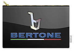 Bertone - 3 D Badge On Black Carry-all Pouch