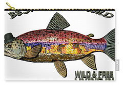 Carry-all Pouch featuring the digital art Fishing - Best Caught Wild On Light by Elaine Ossipov