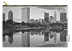 Carry-all Pouch featuring the photograph Best Columbus Black And White by Frozen in Time Fine Art Photography