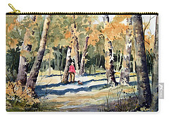 Walking With A Friend Carry-all Pouch by Sam Sidders
