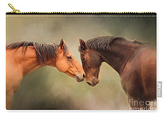 Best Friends - Two Horses Carry-all Pouch