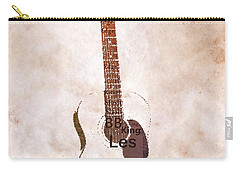 Best Guitarists Typography Warm Carry-all Pouch by Dan Sproul