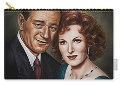 Carry-all Pouch featuring the painting Best Guy I Ever Met by Kim Lockman