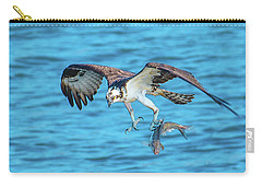 Best Osprey With Fish In One Talon Carry-all Pouch by Jeff at JSJ Photography