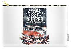 Carry-all Pouch featuring the digital art Best Surfer by Christopher Meade